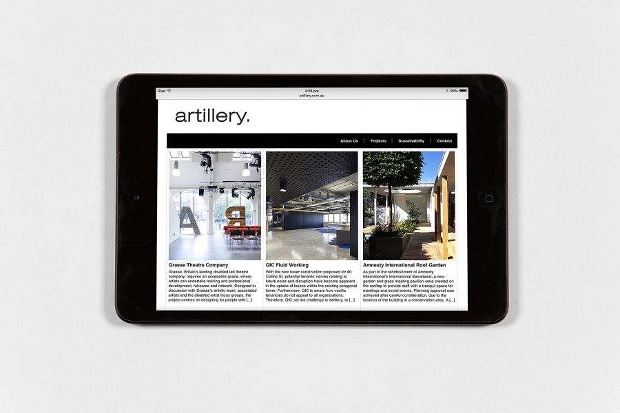 Artillery Interior Architecture website